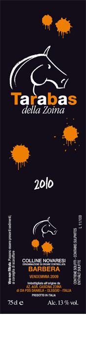 Compro Vino Barbera Tarabas Della Zoina – 2010