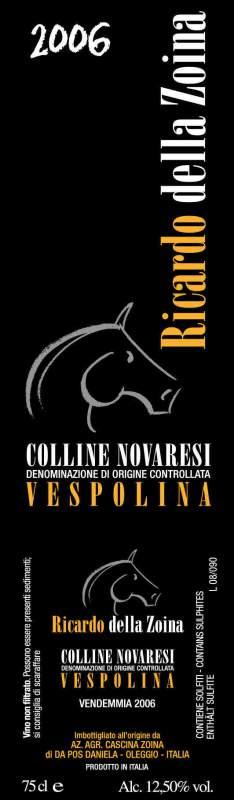Compro Vino Vespolina Ricardo Della Zoina – 2006
