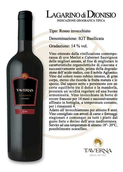 Compro Vino Lagarino di Dionisio