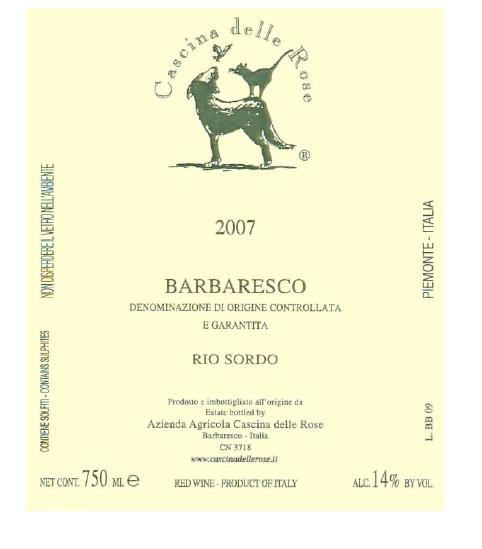 Compro Vino Barbaresco DOCG 2007 Rio Sordo