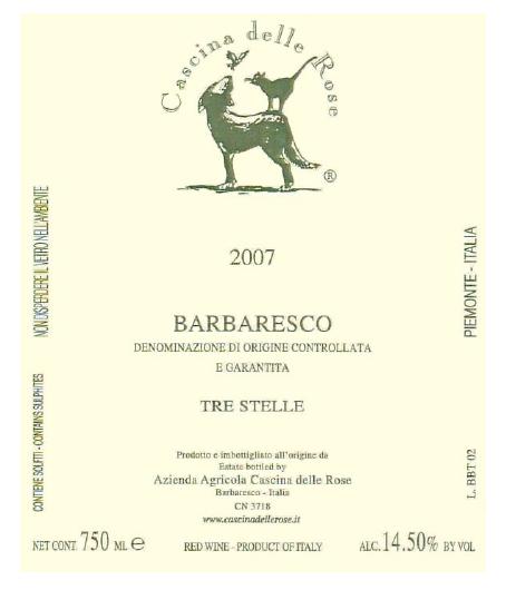 Compro Vino Barbaresco DOCG 2007 Tre Stelle