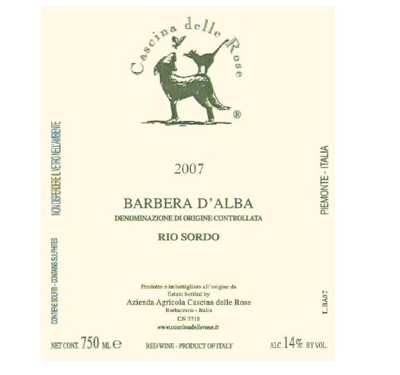Compro Vino Barbera d'Alba DOC 2007 Rio Sordo