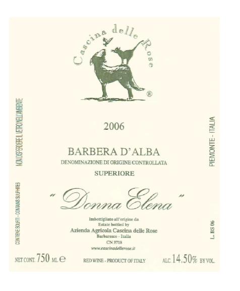 Compro Vino Barbera d'Alba DOC 2006 Superiore