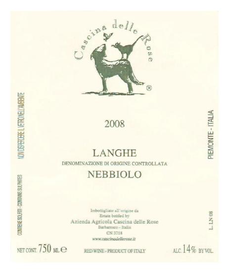 Compro Vino Langhe Nebbiolo DOC 2008