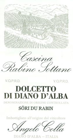 """Compro Vino Dolcetto di Diano d'Alba """"Sori du Rarbin"""""""