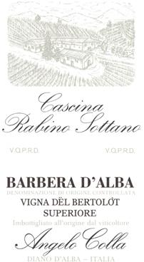 "Compro Vino Barbera d'Alba superiore ""Vigna del Bartulot"""