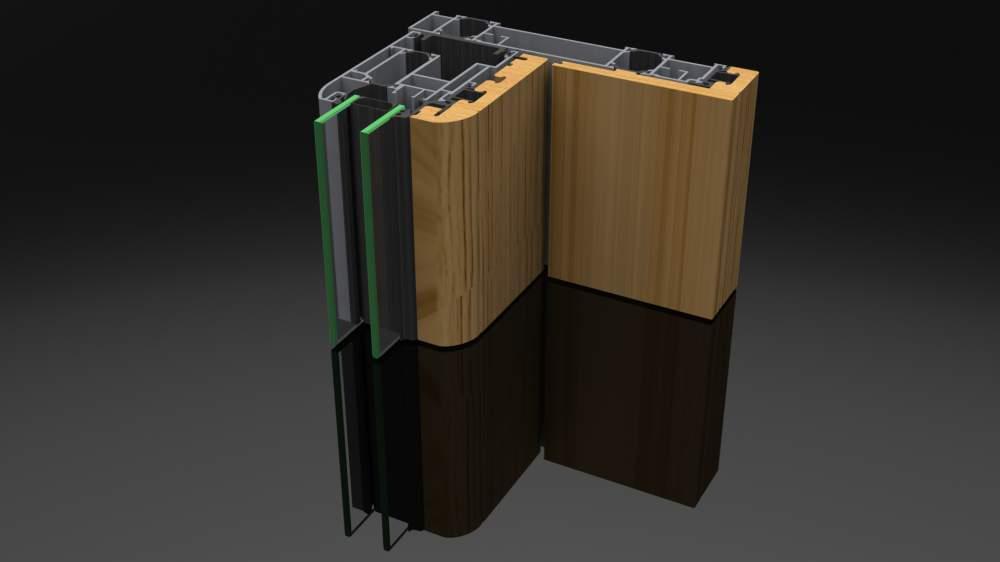 Compro AS 200 - il sistema in alluminio/legno a doppio taglio termico.