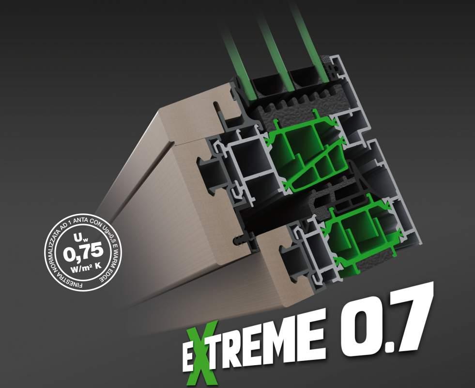 Compro EXTREME 0.7 - nuovo sistema in alluminio/legno ad elevate prestazioni.