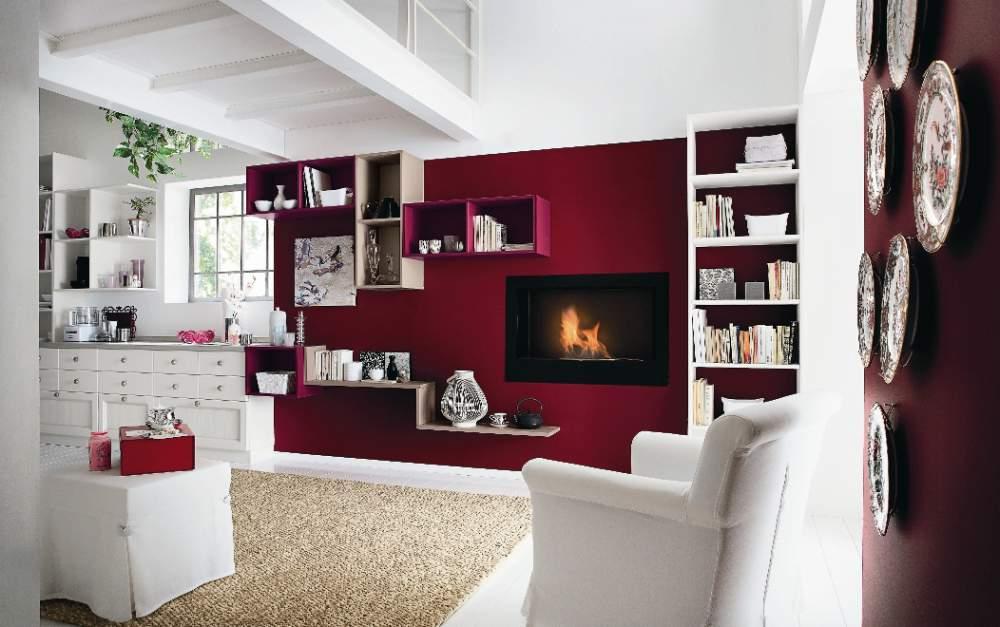 Awesome Parete Rossa Soggiorno Pictures - Design and Ideas ...