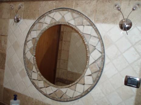 Specchiere in pietra / Specchiera mosaico rotonda