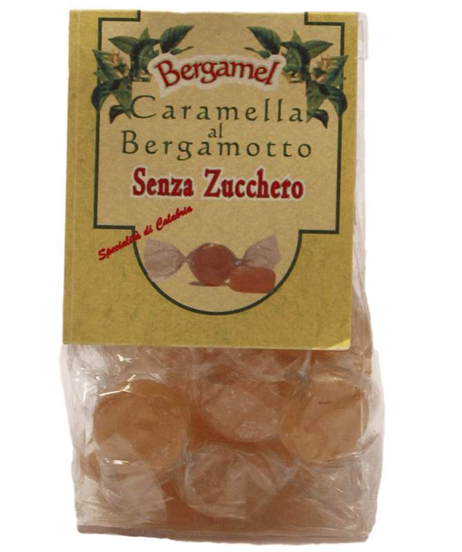 Caramelle al bergamotto senza zucchero