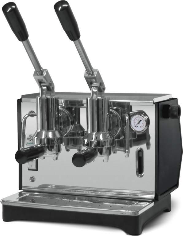 Macchina Bar Lusso a Leva 2 Gruppi per cialde o caffe macinato 1000 watt Pontevecchio