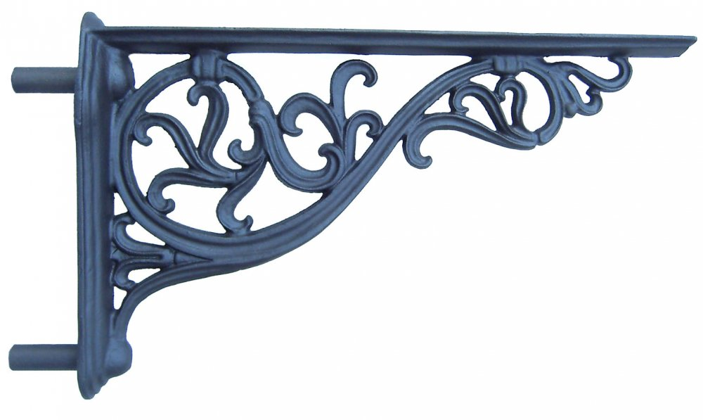 Mensola, Gattone o sottobalcone  Ornamentale in ghisa l. 89 cm