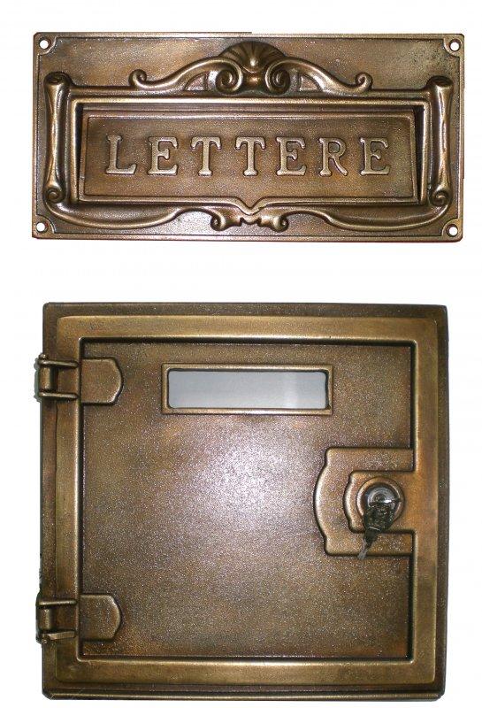 Cassetta postale per lettere in fusione di ottone