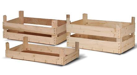 Scatole di legno per frutta e verdura