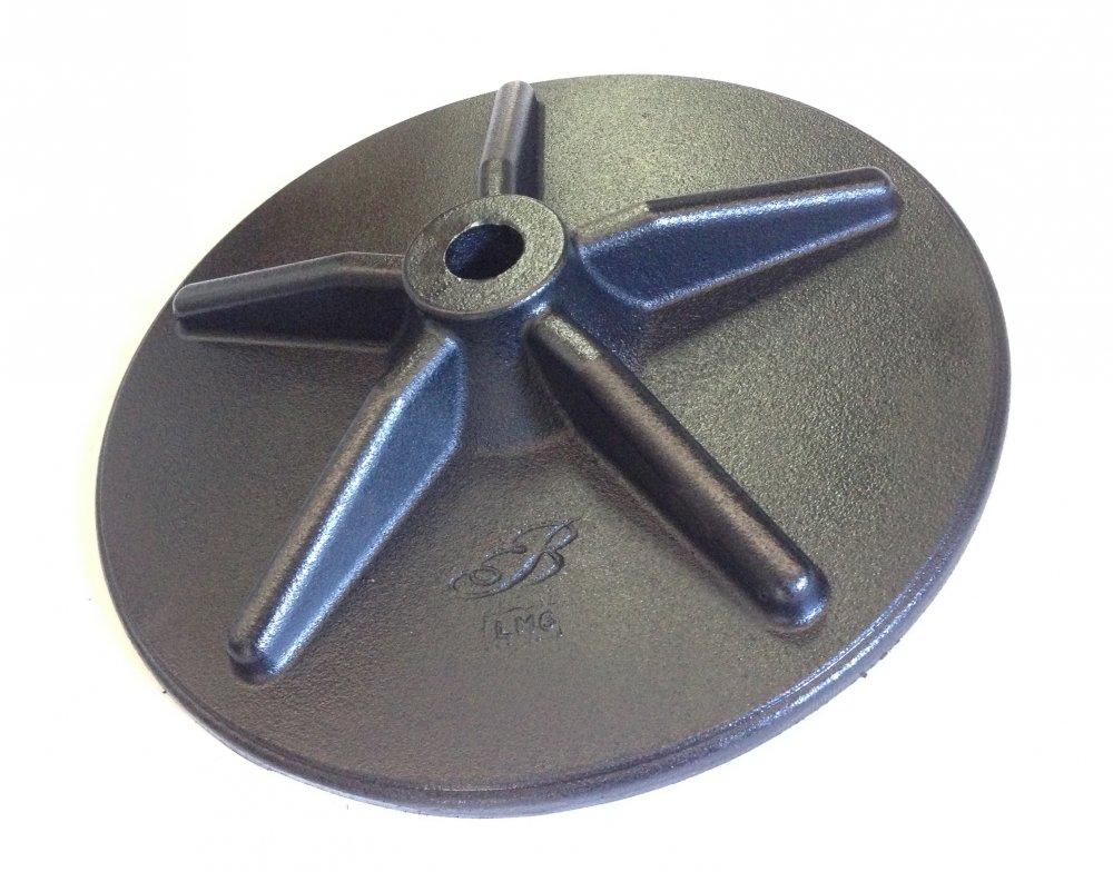 Piastra per tirante, antisismica  tonda in ghisa diametro 40 cm