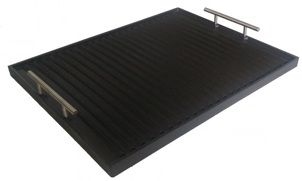 Piastra cottura in ghisa smaltata 43x30 cm spessore 2,10 cm