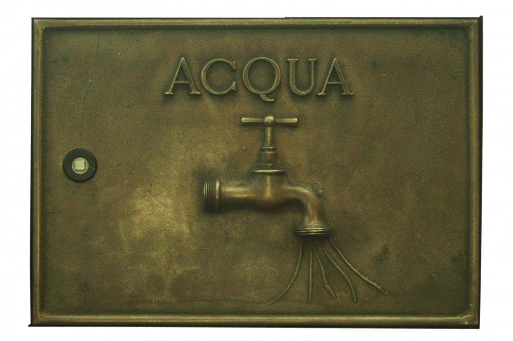 Acquistare Sportello contatore acqua in fusione di ottone. Dimensioni L 38 H25