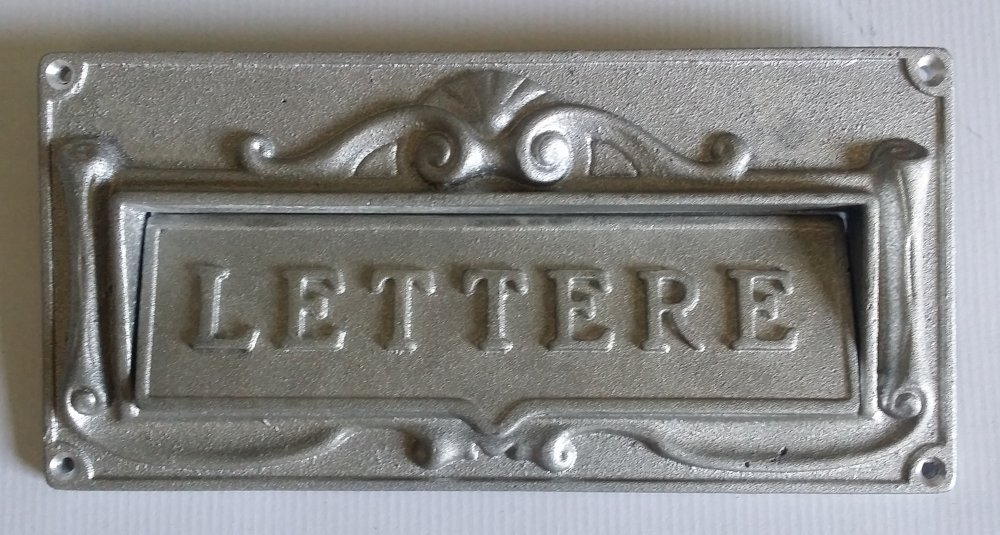 Acquistare Feritoia per lettere in alluminio Silver