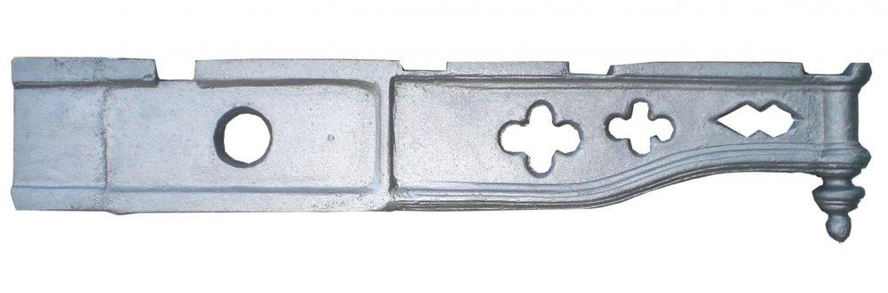 Mensola, Gattone o sottobalcone  Ornamentale in ghisa Lungh. cm 80