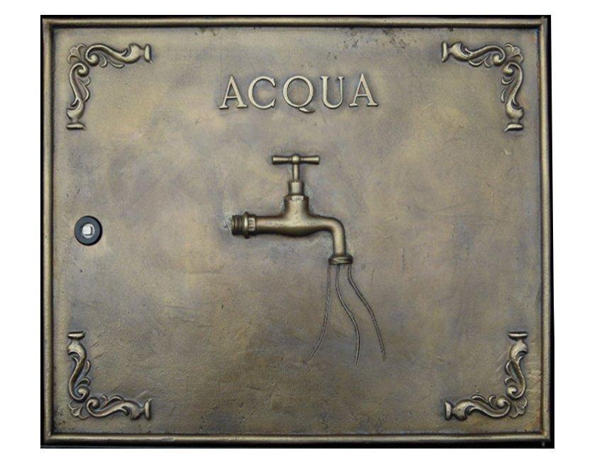 Sportello contatore acqua in ottone 38x25 cm