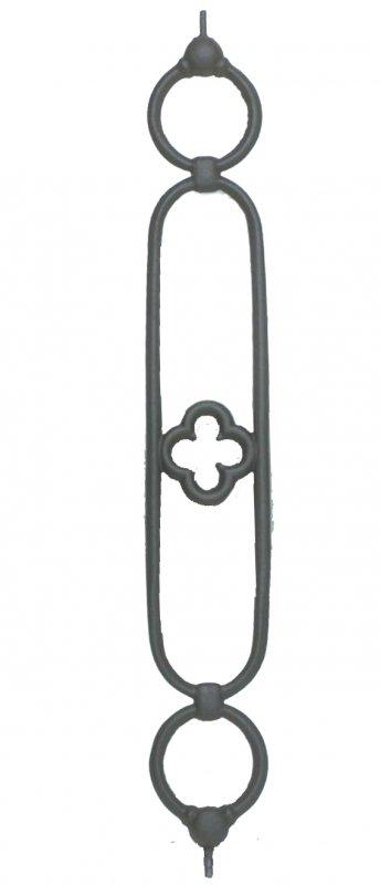 Elemento ringhiera in ghisa per balconi Altezza 90  cm Larghezza 14 cm