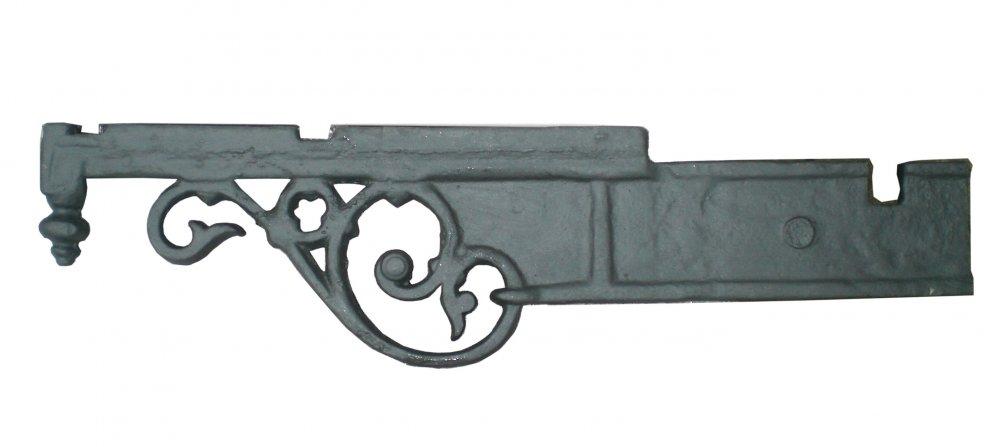 Mensola, Gattone o sottobalcone  Ornamentale in ghisa  Lunghezza cm 97