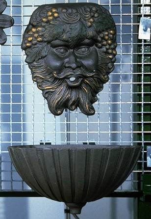 Fontana a muro o parete Mod. Zeus con dorature
