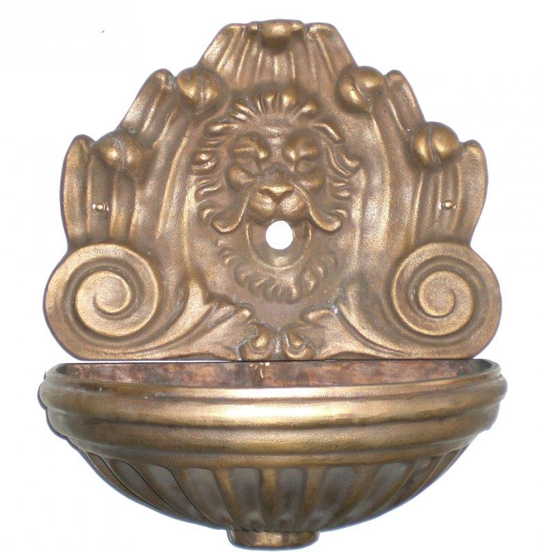 Fontana a parete Centauro in ottone brunito