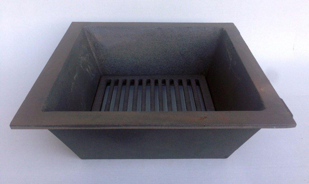 BBQ,Braciere,Grill,Fornacella,murare,Incasso,ghisa 36x36 Cm LB-FGM360360