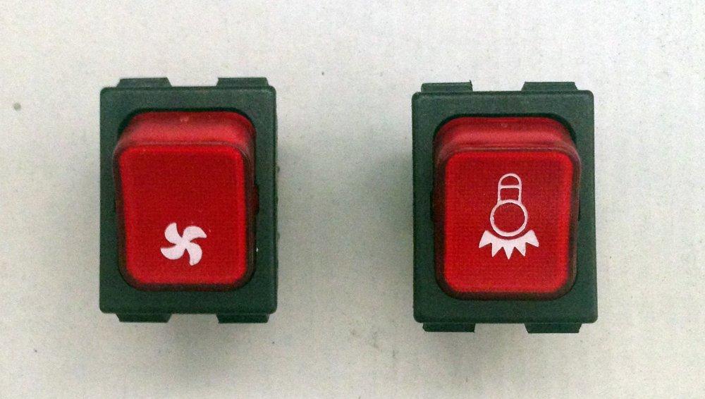 Pulsante,Interruttore,Lampadina,Ventola,Luminoso,Rosso 12 V LB-KILVL12V