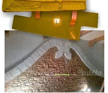 """Compro Timbro in cemento verticale, """"modello Everest"""" Cm. 60x35 c.a"""