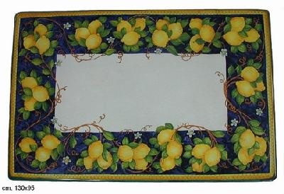 Tavoli in Ceramica - Decoro Limone Blu - Art. 227 buy in ...