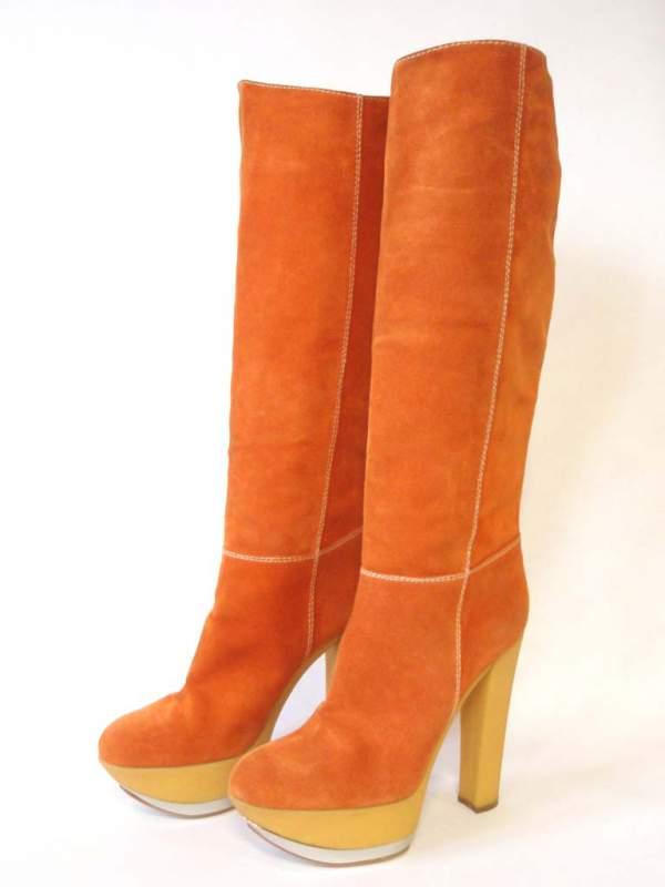 Compro CASADEI stivali da donna numero 40 arancioni sotto il ginocchio