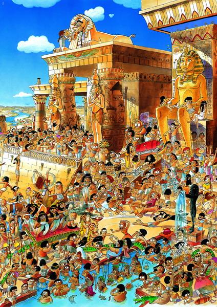 "Acquistare Puzzle Heye "" Prades, Egypt "" 1000pz Cartoon"