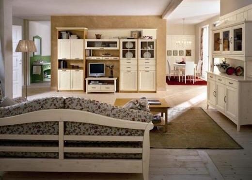 Soggiorno country Arredamento in legno naturale — Comprare ...