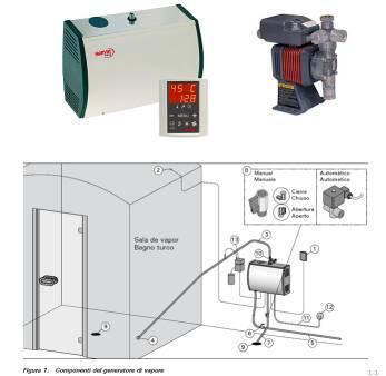 kit bagno turco generatore professionale per