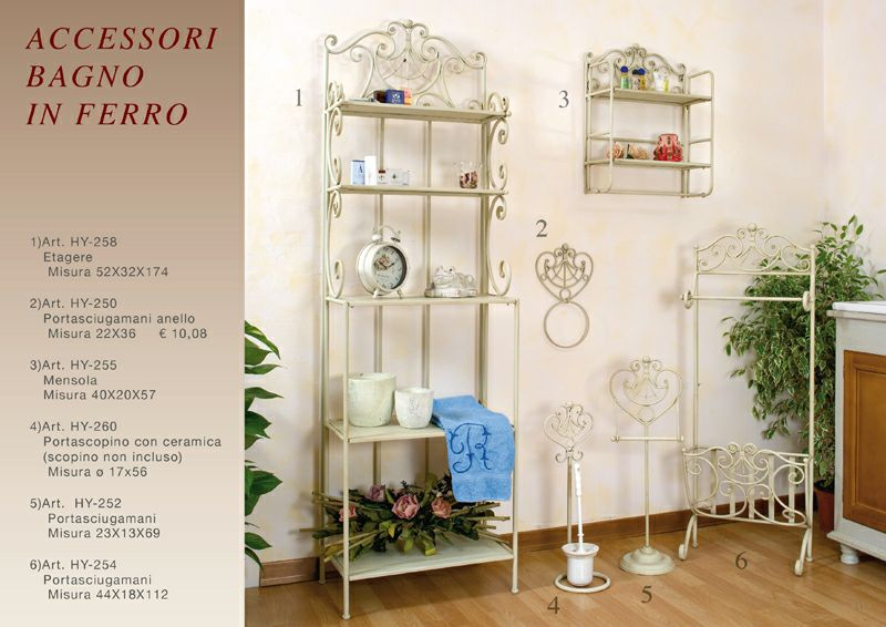Accessori bagno in ferro buy in Tivoli on Italiano