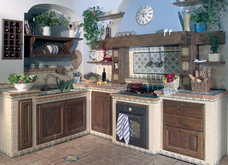 Risultati immagini per cucine rustiche in muratura con tendine