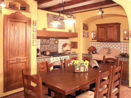 Cucina finta muratura Tosca