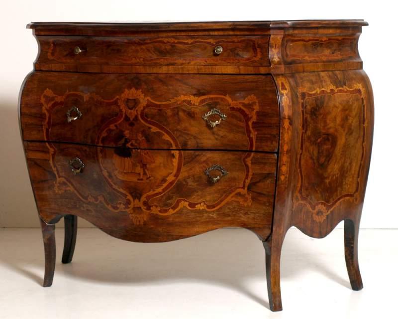 mobili barocco veneto : Antico com? barocco bombato intarsiato maggiolini ? Comprare Antico ...