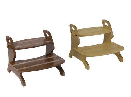 Scaletta in legno a 2 gradini