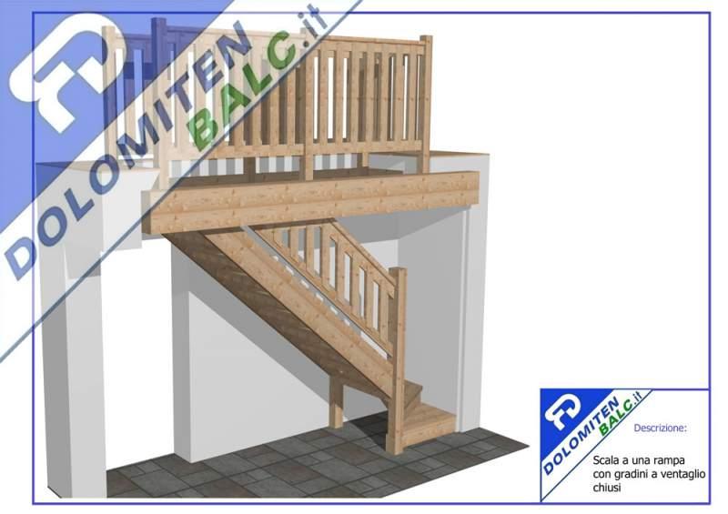 Acquistare Scala a una rampa con gradini a ventaglio chiusi