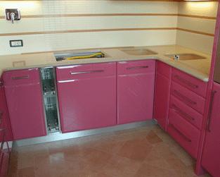 cucina rosa laccata ? comprare cucina rosa laccata, prezzo , foto ... - Cucine Rosa