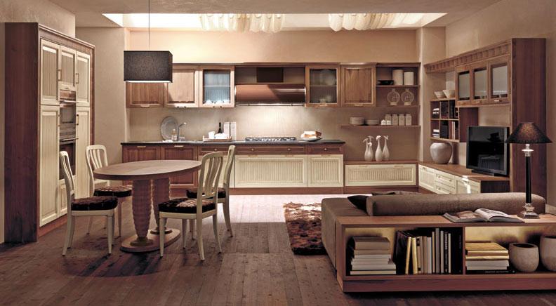 Set mobili per cucina Convivio, in rovere — Comprare Set mobili per ...