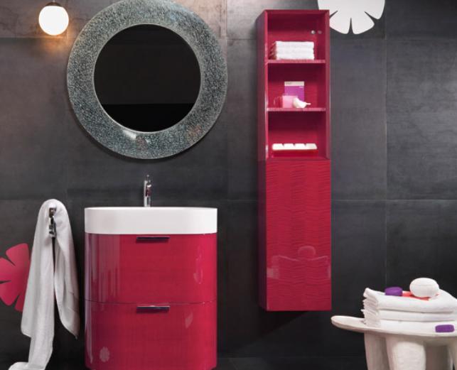 Arredo bagno rosso laccato buy in muggiò on italiano