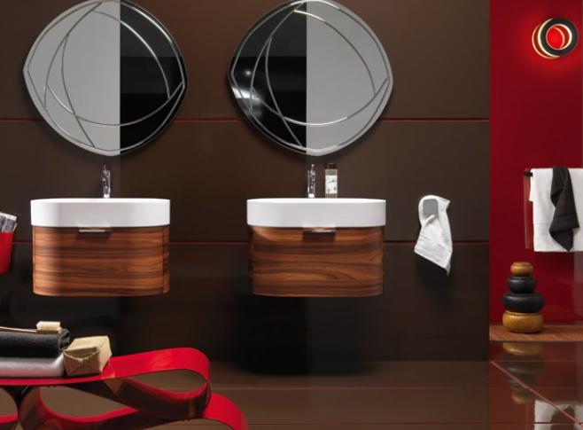 Mobile da bagno, modello con doppio lavabo — Comprare Mobile da ...