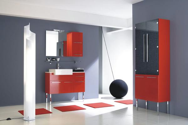 Arredo bagno, colore rosso laccato buy in Prata di Pordenone on Italiano