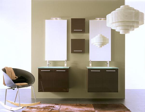 Arredo bagno, modello con doppio lavabo — comprare arredo bagno ...