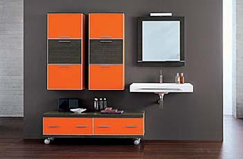 arredo bagno moderno, colore arancio laccato for sale in canelli ... - Arredo Bagno Arancione